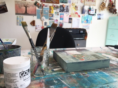 Home studio in San Luis Obispo, CA.